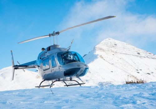 helicoptère en montagne